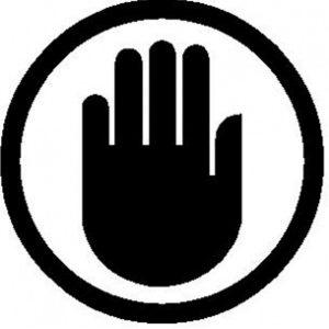 Halt Hand Sign